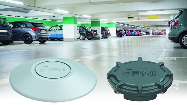 Auch im Parkhaus zeigt der PlacePod freie Parkplätze an – auch solche mit E-Ladesäule