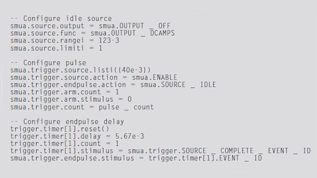 Listing 1. Programmcode für Trigger-Modell in Bild 7.