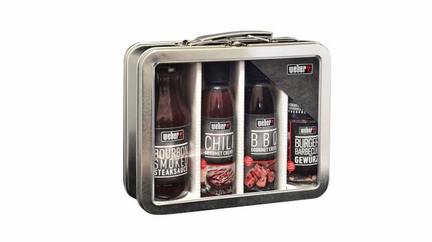 3. Preis: Weber Geschenkkoffer mit Gewürz und Saucen