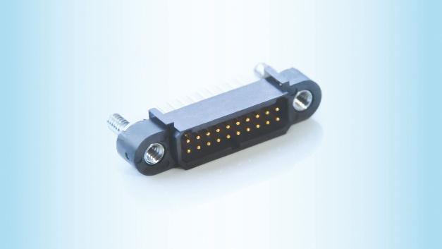 Mit integriertem Führungsstift Die Steckverbinder der AMM-Serie bietet Nicomatic im Raster 1,00mm an. Sie eignen sich für platzkritische Anwendungen in rauen Umgebungen, wie in der Luft- und Raumfahrt und in Industrieanlagen. Ein Merkmal der Serie ist der integrierte Führungsstift, der ein Stapeln der Stecker ermöglicht. Die Miniatursteckverbinder übertragen bis zu 4,8A (PCB zu Kabel, 20Pins bei 25°C) oder 2,5A (PCB zu PCB, 20Pins bei 25°C) und halten Vibrationen von 15G und Stößen von 100G stand. Zudem garantiert das Unternehmen bis zu 1000Steckzyklen und einen Betriebstemperaturbereich zwischen –65 und +200°C. (za) Nicomatic, www.nicomatic.com, germany@nicomatic.com, Tel.: +49 (0) 33203 878800