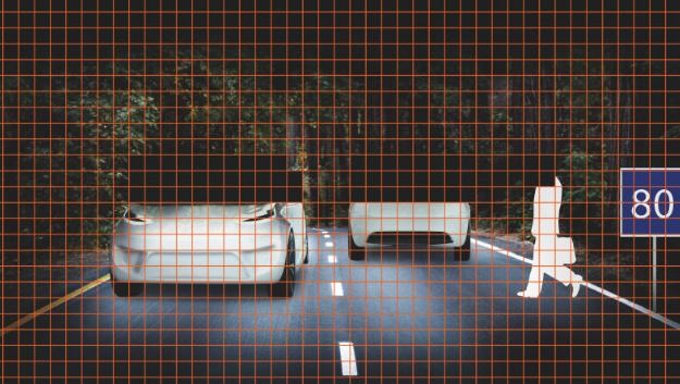 Mehrere tausend Lichtpunkte ermöglichen es, Bereiche im Sichtfeld gezielt auszublenden, um etwa Fußgänger und Gegenverkehr nicht zu blenden.