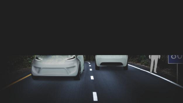 ... bei Abblendlicht wird der Gegenverkehr nicht oder nur schwach geblendet, aber der Fahrer kann die Verkehrssituation nur eingeschränkt überblicken.