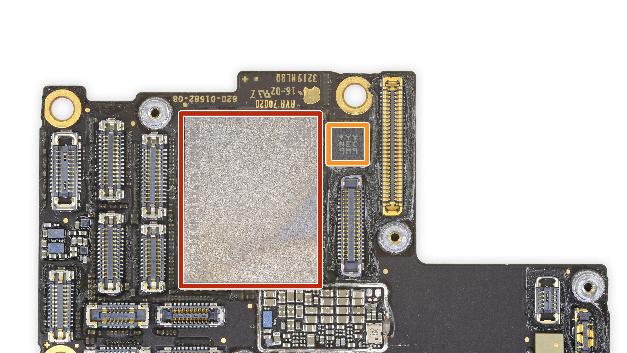 Rot: Toshiba TSB 4226VE9461CHNA1 1927 64 GB Flash-Speicher Orange: NEC 9M9 Beschleunigungssensor/Gyroskop