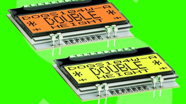 """Displays für Low-Power-Geräte  Die Produktfamilie """"EA DOG"""" von Electronic Assembly hat Schukat ins Programm aufgenommen. Verfügbar sind die 2mm flachen Anzeigen in zehn verschiedenen Größen und jeweils fünf verschiedenen Display-Techniken: transmissiv, reflektiv, als blaues negatives STN sowie positives und negatives FSTN. Der Betrieb erfolgt standardmäßig mit 3,3V, wobei die Displays nur zwischen 150 und 350µA benötigen. Eine optionale LED-Beleuchtung ist ebenfalls für 3,3V ausgelegt, die hellste weiße LED arbeitet ab 3mA. Die separaten Hintergrundbeleuchtungen gibt es in den Farben Weiß, Amber, Blau, Rot, Gelb/Grün und vollfarbig. Zur Wahl stehen Textdisplays mit 1×8, 2×16, 4×10 (umschaltbar auf doppelte Schrifthöhe 2×10), 4×16 und 4×20 Zeichen sowie Grafikdisplays in den Auflösungen 102×64, 128×64, 160×104, 240×64 und 240×128 Pixel. Dabei liegen die äußeren Abmessungen zwischen 39×41 und 94×67 mm2. Außerdem unterstützen einzelne Displays englische, europäische und kyrillische Zeichensätze. Alle Anzeigen verfügen über ein SPI-Interface, die Textdisplays zudem über eine 4-/8-bit-Schnittstelle und einige Anzeigen funktionieren via I2C. Ohne zusätzlichen Montageaufwand lässt sich das Display in Verbindung mit einer Beleuchtung kompakt direkt in die Platine mit 2,54-mm-Raster löten. Der Temperatureinsatzbereich der Displays beträgt durch eine integrierte Temperaturkompensation –20 bis +70°C. Alle Standard-Technologien aus der Produktfamilie von Electronic Assembly liefert Schukat ab 1Stück ab Lager.  Schukat electronic, www.schukat.com, info@schukat.com"""