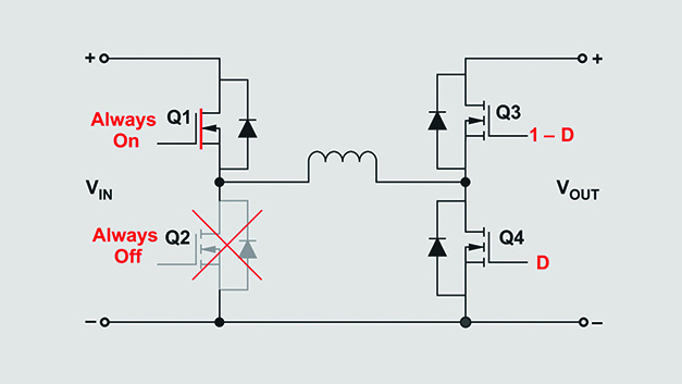 Bild 3. VIN < VOUT Wandler arbeitet im Boost-Modus.
