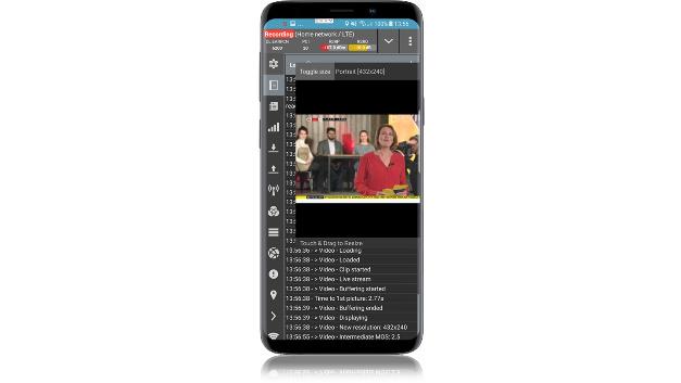 Qualipoc läuft auf Android-Geräten. Sie stellt die wesentlichen Informationen für die Analyse der Funkschnittstelle im Mobilfunknetz bereit.