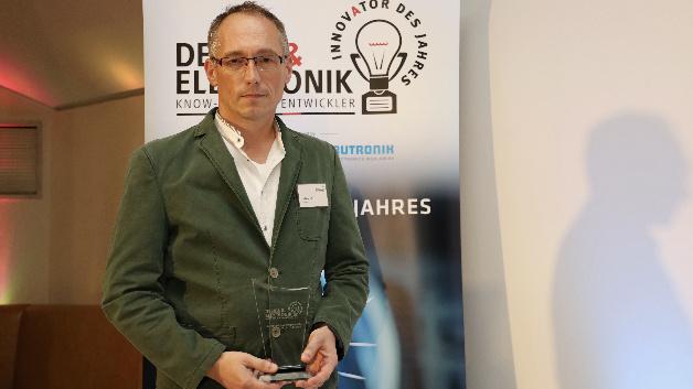 Ralf Otremba von Infineon Technologies erhält den Preis für das Double DPAK. Diese erste SMD-Lösung für die Oberseitenkühlung entkoppelt Leiterplatte und Halbleiter thermisch. Dadurch steigen wiederum Leistungsdichte und Systemlebensdauer.
