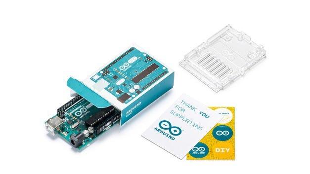 Das Arduino Uno ist der Urvater der Arduino-Module. Leider konnte von Arduino LLC niemand zur Preisverleihung kommen.