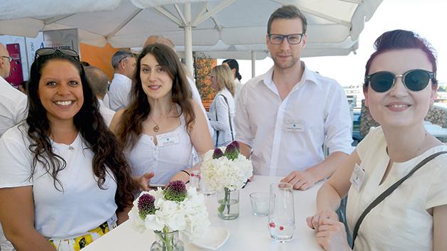 Selina, WEKA-Kollegin Simone Kapp, Tobias und Cornelia (v.l.n.r.) auf dem WEKA Sommernachtsfest 2019.