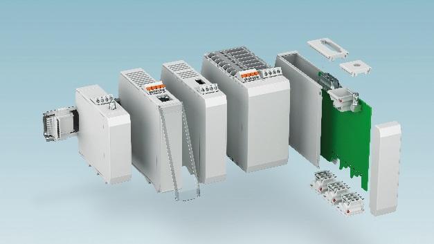 Gehäusesystem ICS: abgestufte Größen, variable Anschlusstechnik und optionale achtpolige Busverbinder bieten viel Flexibilität