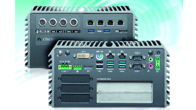 Embedded-PC DS-1202:Der Embedded-Box-PC DS-1202 ist skalierbar und erweiterbar konstruiert, sodass er sich für viele industrielle Anwendungen einsetzen lässt, was den Vorteil einer Hardware-Plattform bietet. Über den LGA15511-Sockel lassen sich Intel-CPUs der achten Generation (Coffee-Lake) integrieren: Intel Core, Pentium und Celeron. Das Rennpferd unter den CPUs ist Intels Core-i7-8700 mit 4,6GHz und 12MB Cache. Das DDR4 SO-DIMM-RAM mit hohen Transferraten lässt sich auf bis zu 32GB aufrüsten. Über PCI-/PCIe-Steckplätze wird das System flexibel erweitert. Proprietäre CFM- und CMI-Module bieten zusätzliche Erweiterungsoptionen. Schnelle Übertragungstechniken wie USB3.1(Gen2) und M.2 (Key M 2280), der PCIe-x4-NVMe-SSDs unterstützt, sind ebenso Standard wie Intels GbE, DVI-I, DisplayPort, COM-Ports und SIM-Karten-Steckplätze. Darüber hinaus bietet der DS-1202 Funktionen wie einen sofortigen Neustart und austauschbare Sicherungen. Ein integrierter Super Capacitor ersetzt zudem die CMOS-Batterie.