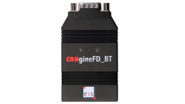 Protokollumsetzer CANgineFD_BT: Der Protokollumsetzer CANgineFD_BT setzt CAN-FD-Signale in Bluetooth-Signale um. Er basiert auf einem leistungsfähigen 32-bit-Mikrocontroller (Cortex-M4), der mit 80MHz getaktet wird und CAN-FD-Datenraten bis zu 10Mbit/s unterstützt. Zusammen mit dem eingebauten Class1 Bluetooth-Modul – mit 100m Reichweite – ermöglicht der CANgineFD_BT von ESS Embedded Systems Solutions eine kostengünstige Kopplung von CAN- und CAN-FD-Netzwerken mit einem Smartphone oder Tablet per Bluetooth. Das eingesetzte Bluetooth Serial Port Profile(SSP) und das wohl dokumentierte ASCII-Protokoll erleichtern die Integration des Adapters in jede Bluetooth-fähige Plattform. Mit Hilfe der CANopenFD Firmware wird der Umsetzer zum Wireless Gateway für CANopen-FD-Netze. So ist es möglich mit einfachen seriellen Befehlen auf alle Objektverzeichniseinträge aller angeschlossenen CANopen-FD-Geräte zuzugreifen. Hierdurch eignet sich das Gerät auch für das Konfigurieren oder Warten von CANopen-FD-Systemen. Den CAN-FD-zu-Bluetooth-Protokollumsetzer CANgineFD_BT wird es in zwei Firmware-Versionen geben. Die generische Variante nutzt eine Erweiterung des populären Serial CAN Protocol(SLCAN), um beliebige CAN- und CAN-FD-Telegramme bei frei einstellbaren Bitraten senden und empfangen zu können.  ESS Embedded Systems Solutions