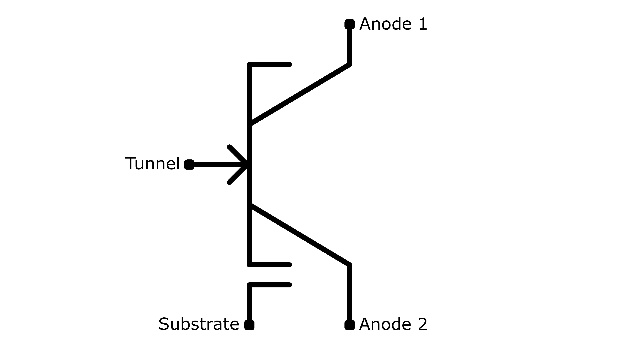 Schaltbild eines Bizen-Transistors.
