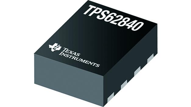 Leistungsschaltregler TPS62840: Die Ruhestromaufnahme (IQ) des Schaltreglers TPS62840 von Texas Instruments liegt bei 60 nA – gleichzeitig kommt der Regler bei geringer Last (1 µA) auf einen hohen Wirkungsgrad von 80 Prozent, sodass entweder die Batterielebensdauer verlängert oder die Anzahl oder Größe der Batterien reduziert werden kann. Hierbei unterstützt der Eingangsspannungsbereich von 1,8 V bis 6,5 V zahlreiche Batteriekonfigurationen. Mit der geringen Ruhestromaufnahme ist der Schaltregler besonders für IoT-Designs, Wearables und Netzinfrastrukturausrüstung geeignet.