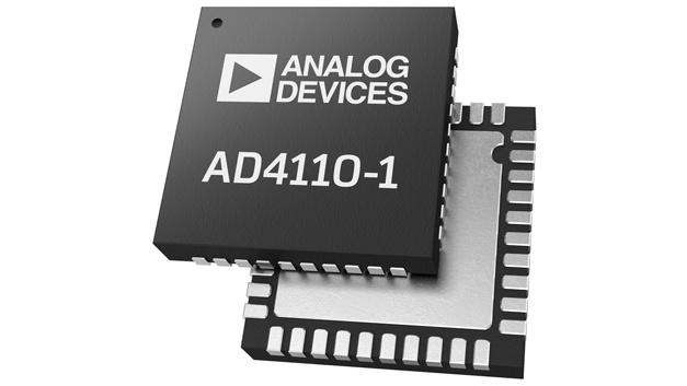 Analog Devices: ADU mit programmierbaren Eingängen AD4110-1 Die beiden Eingänge des AD4110-1 von Analog Devices, ein 24-bit-ADU mit Abtastraten von 5 Hz bis 125 kHz, können per Software konfiguriert werden. So lassen sich die Eingänge zum Erfassen von Stromstärken im Bereich ±20 mA, 4-20 mA und Spannungen bis ±10 V programmieren, und Thermoelemente direkt anschließen. Damit eignet sich der AD4110-1 um alle gängigen industriellen analogen Signalquellen zu erfassen und zu digitalisieren. Der ebenfalls integrierte programmierbare Verstärker lässt sich per Software auf einen Verstärkungsfaktor zwischen 0,2 und 24 einstellen, in 16 Stufen. Zur Programmierung steht Entwicklern eine 4-Draht-Schnittstelle zur Verfügung, kompatibel mit SPI, QSPI und Microwire. Interne Diagnosefunktionen der Eingangsstufe informieren über Ereignisse wie Überspannung, Unterspannung, Leitungsunterbrechung, zu hohe Stromstärke und Übertemperatur.