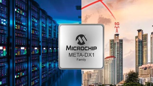 Microchip Technology: Ethernet-Schnittstellen-ICs META-DX1 Über seine Tochter Microsemi bietet Michrochip als erster Halbleiterhersteller einen Ethernet-Physical-Layer-(PHY-)-IC, der Ethernet-Ports von 1 Gigabit Ethernet (GbE) bis 400 GbE, Flexible Ethernet (FlexE), MACsec-Verbindungsverschlüsselung (Media Access Control Security) und Zeitstempelgenauigkeit im Nanosekundenbereich bei Terabit-Übertragungsraten unterstützt. Mit der META-DX1 genannten IC-Familie – PM6110, PM6108 und PM6104 – lässt sich die Kapazität von Line Cards von 3,6 Tbit/s auf 14,4 Tbit/s bei 36 Ports mit 400 GbE oder bei 144 Ports mit 100 GbE vervierfachen. Die ICs der META-DX1-Familie ermöglichen flexibles Crosspoint- Switching und vereinfachen den Übergang zu 100- und 400-GbE-Optiken. Die MACsec-Engine in den META-DX1-ICs sichert den Datenverkehr, der das Rechenzentrum oder das Unternehmensgebäude verlässt. Mit FlexE können sowohl Cloud- als auch Telekommunikationsdienstleister den Kapazitätsbedarf decken und gleichzeitig die Investitionskosten für Glasfaseranlagen senken, indem sie Verbindungen über das heutige Festnetz-Ethernet hinaus optimal konfigurieren, sodass kostengünstige, seriengefertigte Optiken zum Einsatz kommen können. Die META-DX1-Familie kombiniert MACsec und FlexE, um die nächste Phase der Skalierung beim DCI-Ausbau (Data Center Interconnect) einzuleiten.