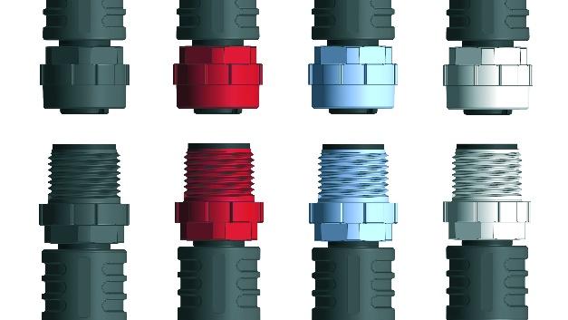 Escha hat robuste Kunststoffüberwürfe entwickelt, die sich von Hand und mit einem Drehmomentschlüssel anziehen lassen. Sie sind medien- und temperaturbeständig und eignen sich insbesondere für Applikationen im Nutzfahrzeugbereich oder im Agrarsektor. Verfügbar sind die Kunststoffüberwürfe in den Farben schwarz, grau, rot und blau. Dadurch lassen sich Steckverbinder einfach markieren, und eine schnelle Zuordnung und Unterscheidung ist möglich. Für die Getränke- und Lebensmittelindustrie hat Escha einen grauen Kunststoffüberwurf im so genannten Hygienic Design entwickelt. Dieser verhindert die Bildung von Schmutznestern und ist resistent gegenüber Ecolab-Reinigungsmitteln.   Escha, www.escha.de, info@escha.de, Tel.: 02353 708-800