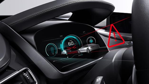 Bosch demonstrierte ein 3D Display für das Auto, das ohne Hilfsmittel aus verschiedenen Perspektiven einen 3D-Eindruck vermittelt.