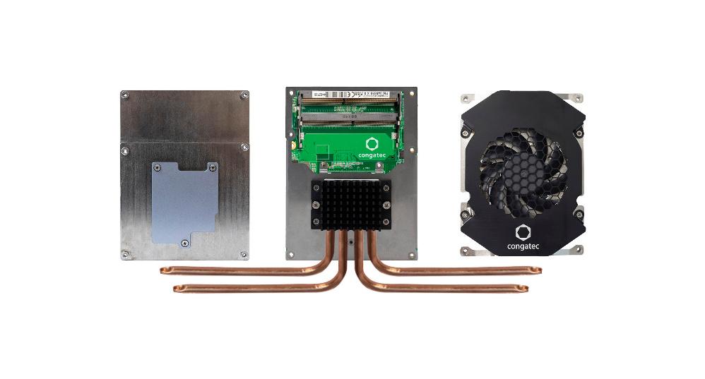Kühlung für 100-W-Edge-Server: Die neuen 100-W-Edge-Server, die derzeit rund um die neuen EPYC-Embedded-3000-Prozessoren von AMD entstehen, müssen gekühlt werden. Kommen Rugged-Kühlmodule und Prozessormodule für den 24/7-Betrieb aus einer Hand, brauchen sich OEMs nicht mehr um die Auslegung des Abwärme-Systems zu kümmern. Auf den Prozessor abgestimmte Kühlsysteme sind für das 100-W-Ökosystem essenziell, da Überhitzung zu einer schnellen Alterung und damit zum Ausfall der Systeme führen kann. Edge-Server mit Echtzeitanforderungen müssen zudem optimal vor einer thermal bedingten Drosselung der Leistung geschützt werden, um deterministisches Verhalten sicherzustellen.
