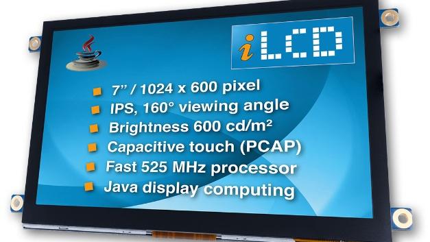 """Demmel products stellt eine neue Serie seiner """"intelligenten"""", in Java programmierbaren LCDs vor. Die iLCDs mit 525-MHz-Prozessor sollen Java-Programme laut Unternehmensangabe zehnmal schneller ausführen als vergleichbare Displays. Sie unterstützen USB-, I2C-, SPI- und Ethernet-Schnittstellen sowie verschiedene IOs unter Java. Die eingesetzten IPS-Displays sind bis zu 160° und auch bei schrägen Betrachtungswinkeln ablesbar. In der 7-Zoll-Ausführung haben die iLCDs eine Auflösung von 1024 × 600 Pixel, standardmäßig liefert Demmel die Serie mit kapazitivem Touch Panel. Die iLCDs sind auch ohne Java einsetzbar; ein externer Controller übernimmt dann die Steuerung. Zur Projektierung stellt demmel products den iLCD Manager XE inklusive Java-Entwicklungsumgebung kostenlos zur Verfügung. Damit lassen sich die iLCDs einrichten, konfigurieren, programmieren und testen. Ein eingebauter Bildschirm-Simulator und ein Debugger für Java-Programme erleichtern das Testen von Screenlayouts und Programmen auch ohne Hardware. Automatische Funktionen gewährleisten einen schnellen Start und sorgen dafür, dass auch Entwickler ohne spezielle Programmierkenntnisse erfolgreich sind. Zusätzliche Hard- oder Software ist nicht nötig. Die Bautiefe der iLCDs ist trotz eingebauter Technik nur wenig größer als das Display selbst.  demmel products, www.demmel.com, office@demmel.com, Tel.: 0043/1/6894700-0"""