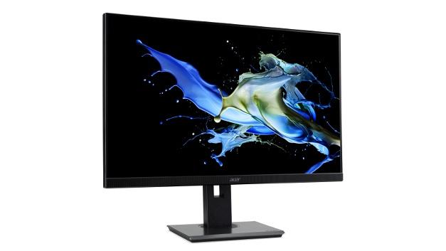 """Der """"Acer B247Y"""" bietet eine Bildfläche von 60,5cm (23,8Zoll) und eine Full-HD-Auflösung mit 1920× 1080 Pixeln. Der Monitor der B7-Serie lässt sich dank des Ergo-Stands flexibel schwenken, neigen und in der Höhe verstellen. Hilfreich ist außerdem die """"Pivot""""-Funktion: Der B7 lässt sich um 90° drehen, um hochformatige Bilder oder Dokumente bildschirmfüllend zu betrachten. Unterstützt werden aktuelle Schnittstellen wie HDMI, USB TypeC, Audio In. Außerdem sind Lautsprecher integriert. Verschiedene Technologien, wie """"Acer BlueLightShield"""" oder die sogenannte """"Flickerless-Technologie"""", schonen auch bei einem langen Arbeitstag die Augen. Der Monitor ist für 250Euro im Handel erhältlich."""