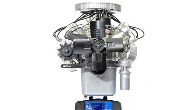 Originalgetreues Funktionsmodell des Typ 289 K-code-V8 von 1965  Ca. 200 Teile zum Stecken und Schrauben, kein Kleben notwendig  Integriertes Soundmodul mit Original-Motorsound Hochwertiges Begleitbuch mit bebilderter Aufbauanleitung  Offizielles Ford-Lizenzprodukt