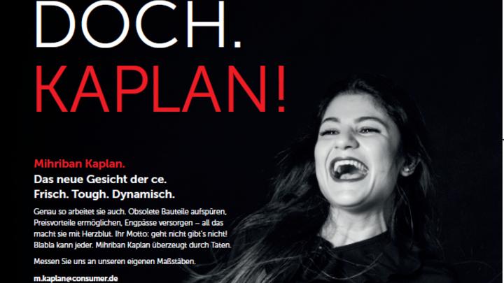 ce consumer electronic GmbH Printanzeige - Kein Plan? Doch. Kaplan!