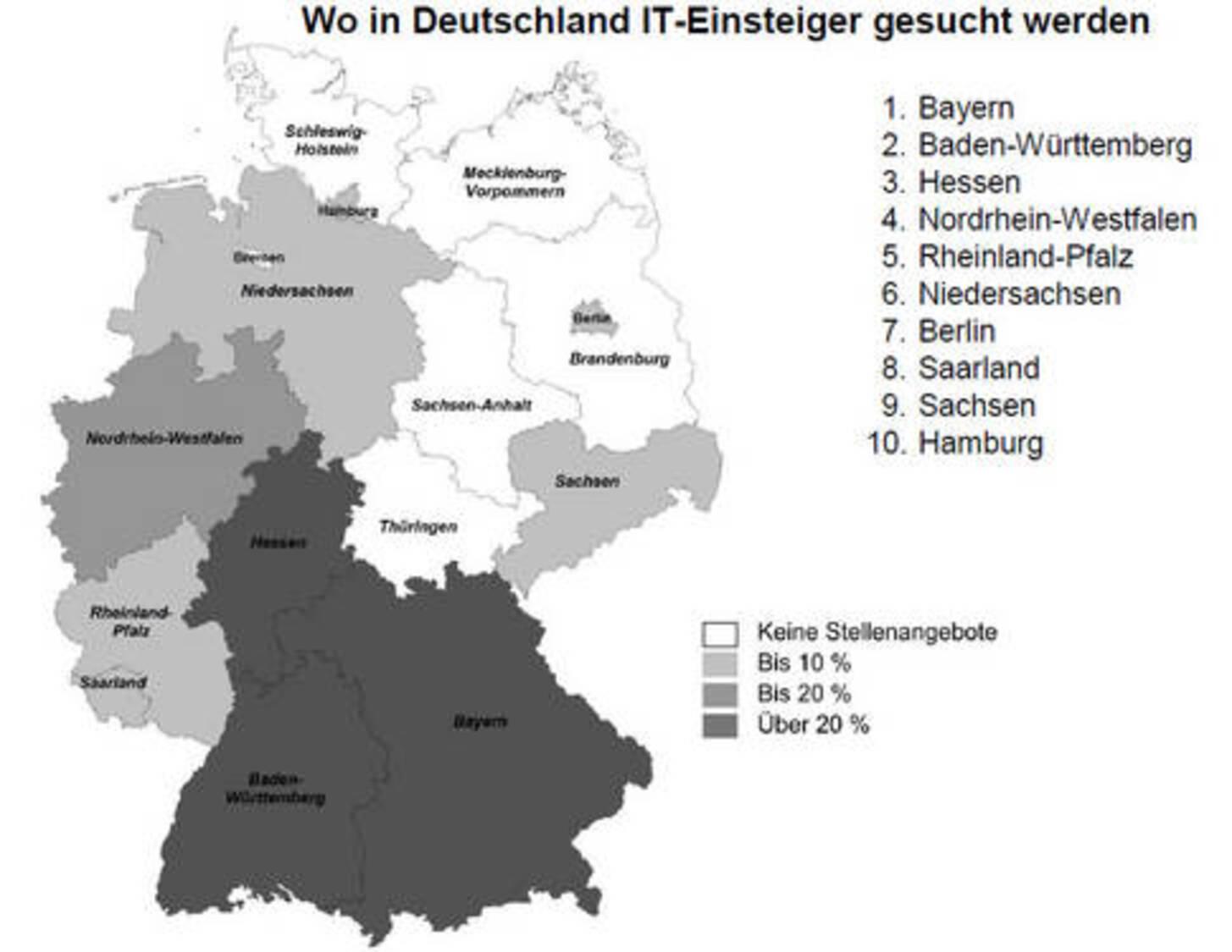 IT-Arbeitsplätze in Deutschland: Große IT-Firmen zieht es nach ...