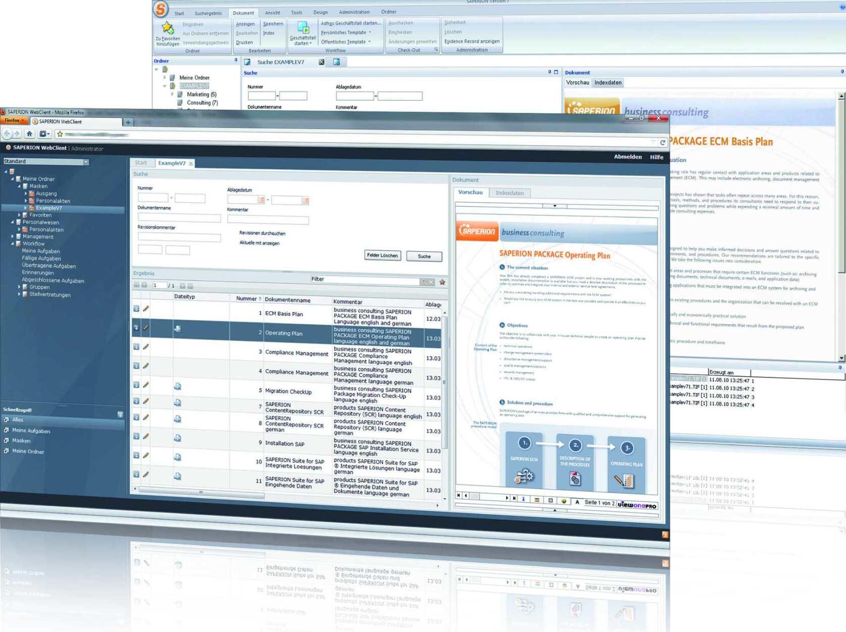 Ecm System Mit Compliance Mechanismen Saperion
