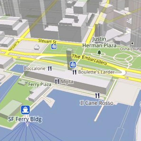 Internet-Kartennste: Google Maps 5 zeigt Gebäude in 3D - crn.de on