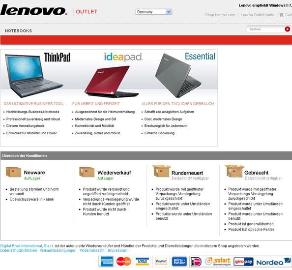 22dd511538217d Direktvertrieb für Business- und Endkunden  Lenovo startet Outlet ...