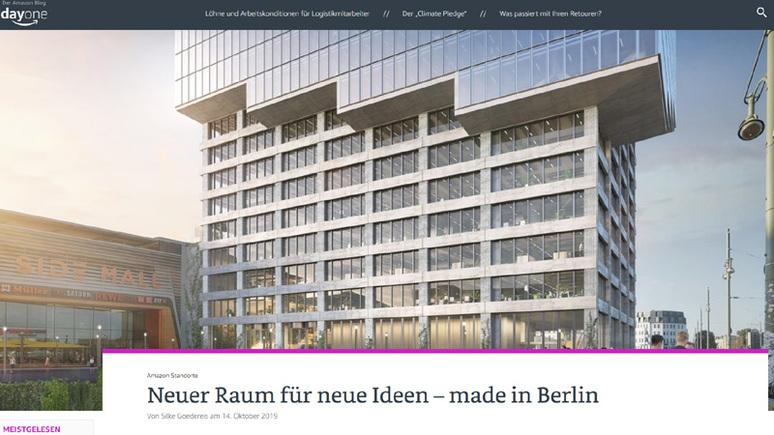 Internetkonzern: Amazon schafft in Berlin Platz für neue Mitarbeiter