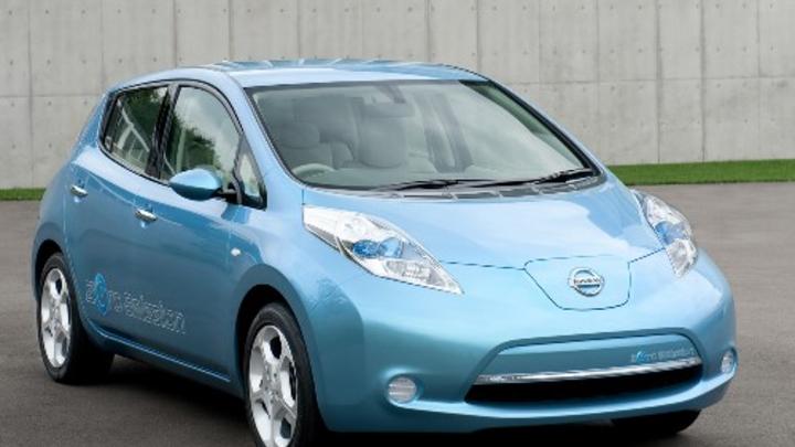 Das Elektroauto LEAF von Nissan.