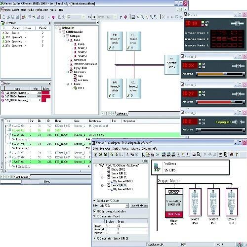Screenshot von Version 7.2 von CANoe.CANopen aus dem Hause Vector Informatik.