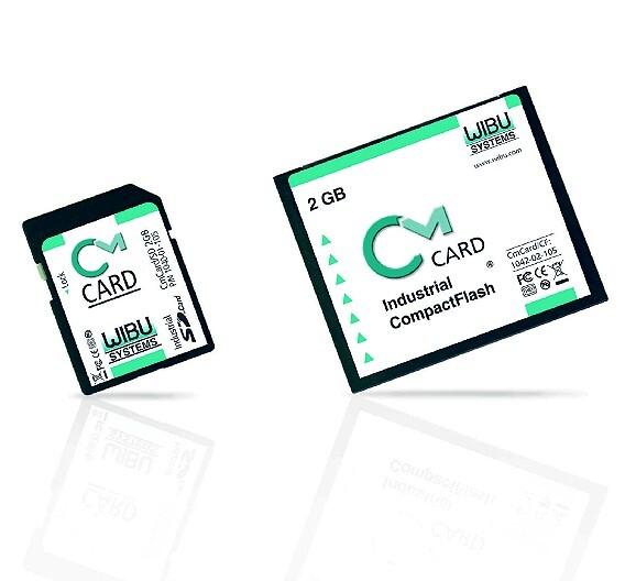Die Software-Schutzkarten »CmCard/CF« und »CmCard/SD« von Wibu-Systems