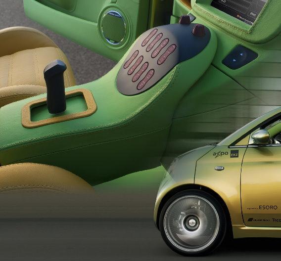So sieht die von Rafi entwickelte Joystik-Steuerung zur Lenkung von Autos aus.