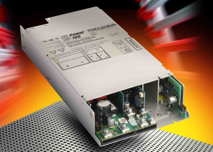 Das modulare Netzteil NV-700 von TDK-Lamba hat acht Slots
