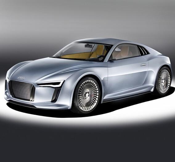 """Das Elektro-Showcar """"e-tron"""" von Audi."""