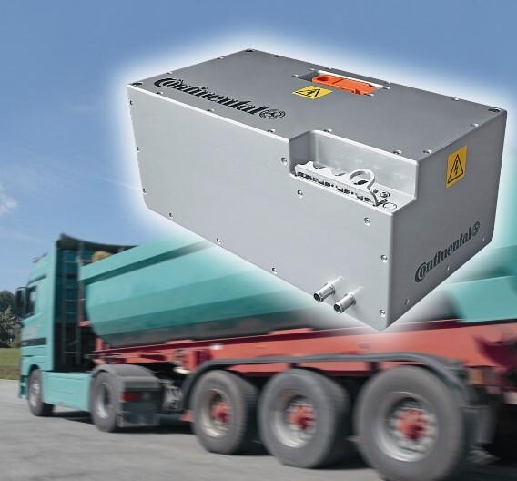 ZF, Continental und ads-tec entwickeln Lithium-Ionen-Energiespeichersysteme für Nutzfahrzeuge.