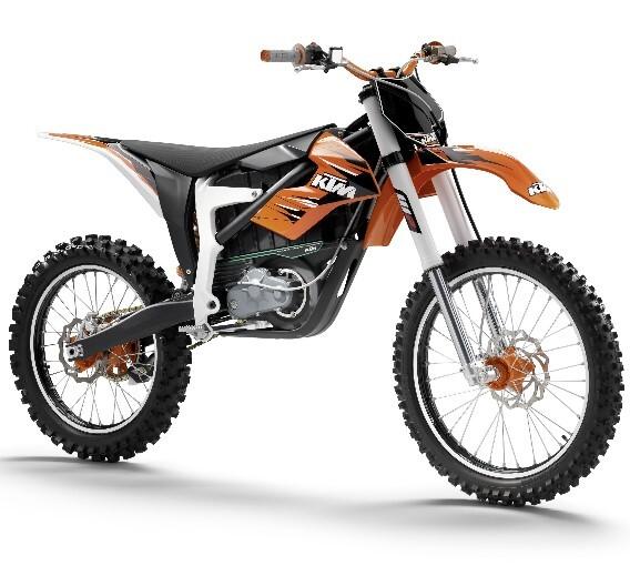 Das Elektromotorrad Freeride von KTM.
