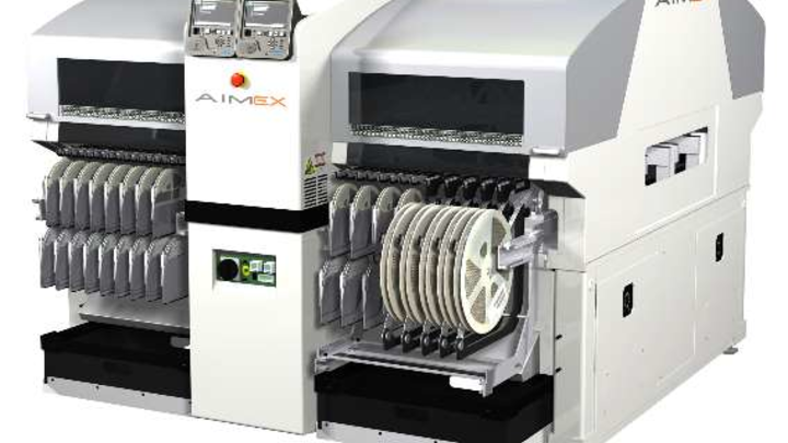 Das Nachrüsten der AIMEX mit Bestückungsköpfen ist mit geringem Aufwand möglich.