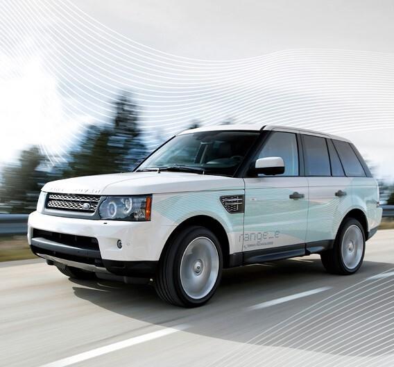 """Der Diesel-Hybrid-Prototyp """"range_e"""" von Land Rover."""