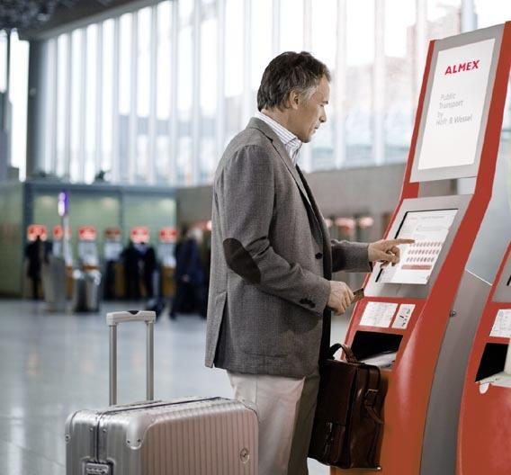 Check-in-Terminal mit Windows 7 von Höft&Wessel.