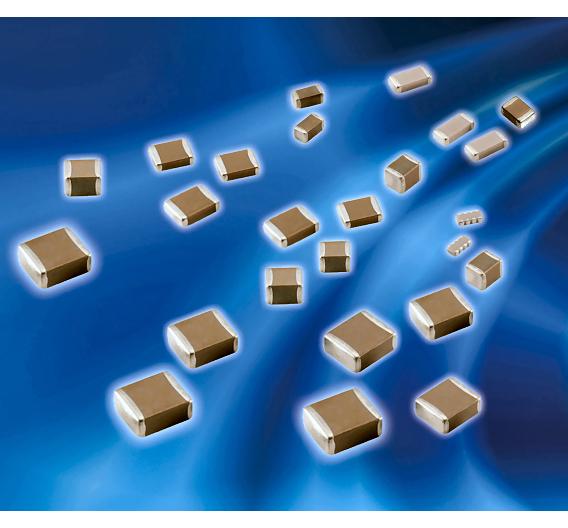 Keramik-Chipkondensatoren mit X5R-Dielektrikum in den Bauformen 0402 bis 1210