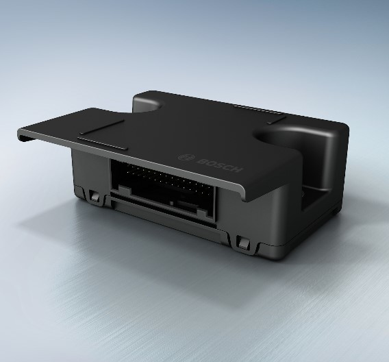 """Das Airbag-Steuergerät """"AB light"""" von Bosch."""