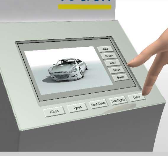 Das easyTouch punktet vor allem durch die »Protective Capacity Touch«-Technologie: Damit lässt sich das Touch-Panel – auch mit Handschuhen – durch eine Glasscheibe hindurch bedienen.