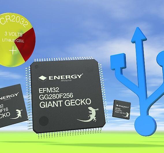 Auf den neuen Giant Geckos von Energy Micro sind Flash-Speicher mit Kapazitäten von 64, 128, 256, 512 und 1024 KByte sowie RAM-Blöcke mit 32 und 128 KByte integriert
