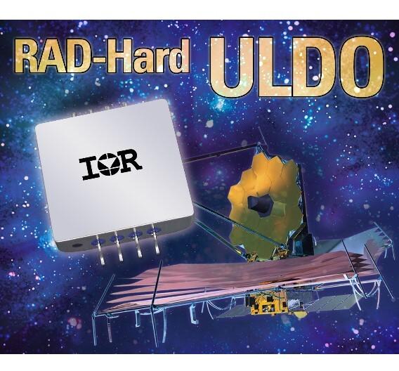 Die strahlungsfesten ULDO der Baureihe IRUH3301… regeln unter Volllast von 3 A und bei einer Dropout-Spannung von nur 0,4 V eine Eingangsspannung von max. 3,3 V auf mindestens 0,8 V herunter.