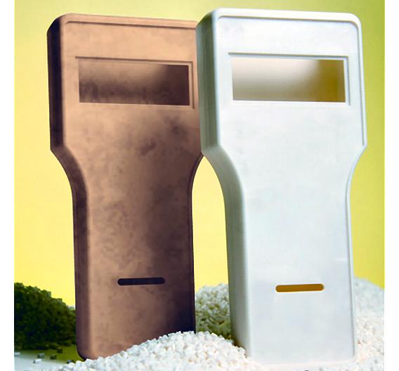 Spritzgussgehäuse aus Biokunststoffen, welche zu 100 Prozent biologisch abbaubar sind