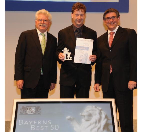 """BMZ Batterien-Montage-Zentrum - einer der Gewinner des vom Bayerischen Staatsministerium für Wirtschaft, Infrastruktur, Verkehr und Technologie veranstalteten Wettbewerbs """"Bayerns Best 50"""""""